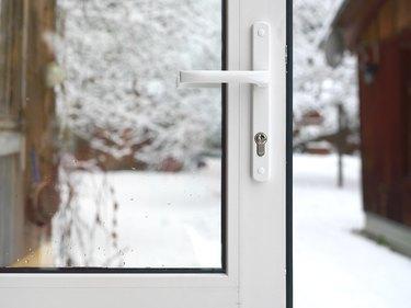 Open Door In Winter
