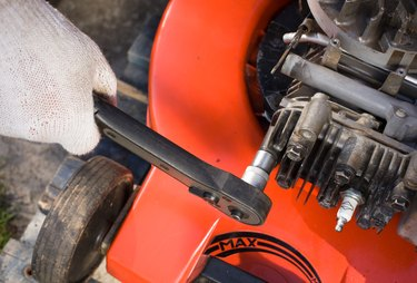 Repairing a lawn mower