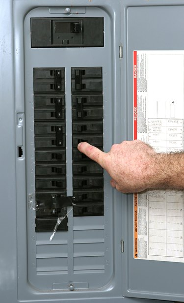 Turning on breaker in electrical service panel