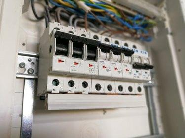 Electric installation inside switch board cabinet