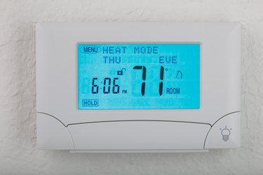 digital thermostat with glow light