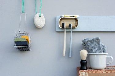 Germany, Various bathroom utensils and DIY props