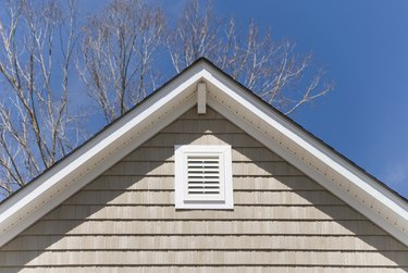 Siding on exterior of house