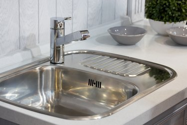 sink with a tap in a kitchen