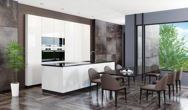 Modern dark stone home interior