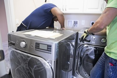 Series- Real installation of washer and dryer in laundry room