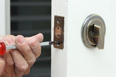 Installing a deadbolt lock