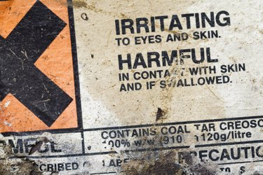 Hazard warning label.