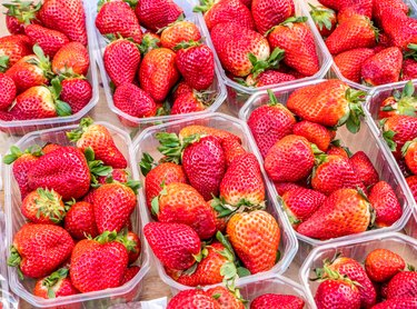 Wweet and delicious strawberries.