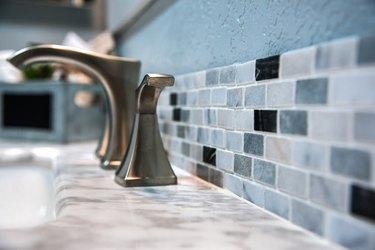 Bathroom Counter Tile Detail