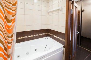 Modern empty bathroom interior