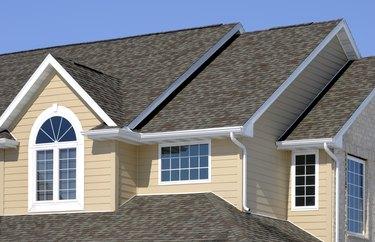 New Residential House; Architectural Asphalt Shingle Roof, Vinyl Siding, Gables