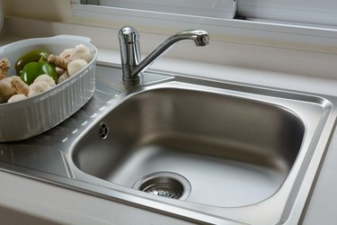 washbasin in a kitchen