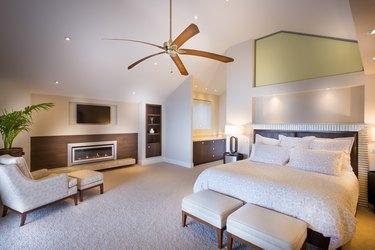 Spacious bedroom at daytime