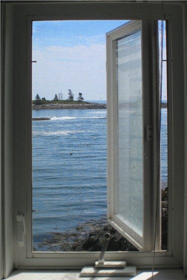 Window overlooking the bay.