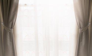 Curtain on window