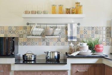 modern ceramic kitchenware and utensils