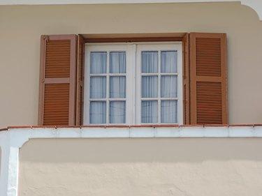 Old wooden window.