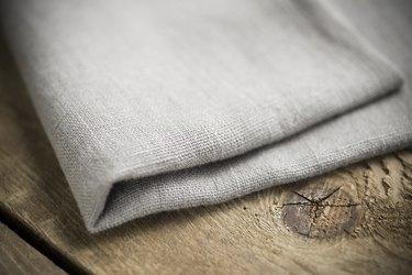 Folded Light Grey Cotton Fabric or Linen