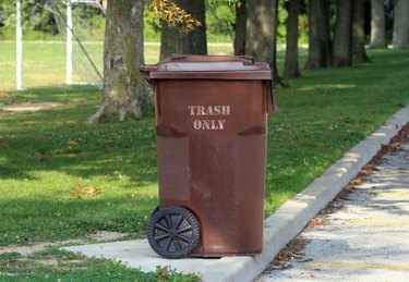 Trash only refuse container.