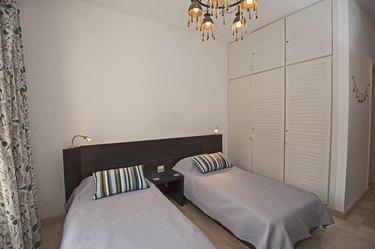Interior design of bedroom in luxury holiday villa