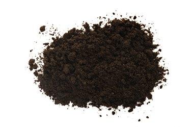 Black soil on white