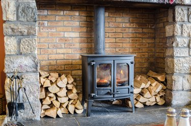 Old-fashioned Wood Burning Stove