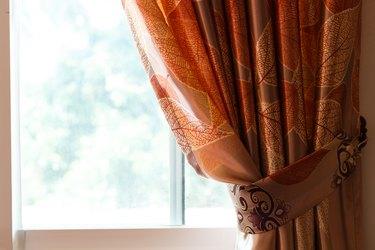 curtain drapery interior home decoration on window