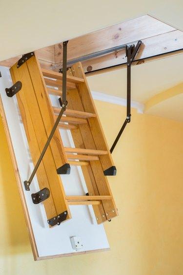Folding attic ladder