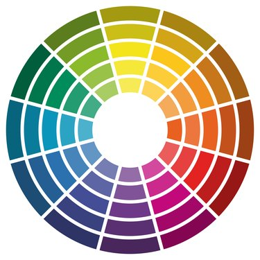 color wheel with twelve colors