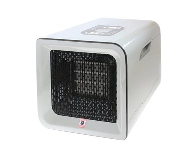 Modern Space Heater Isolated on White
