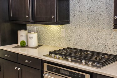 Modern Kitchen Counter With Canisters