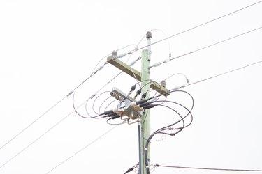 Step-down Transformer on Power Pole