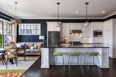 Modern interior kitchen with dining nook