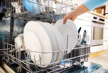 using dishwasher