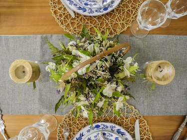 Decoration of tables for parties and events
