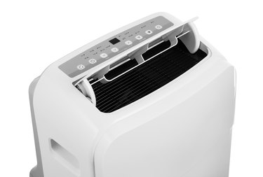 Portable air conditioner isolated on white background