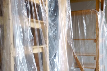 Empty interior space covered of polythene