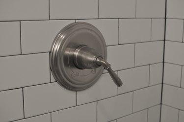 Close-up shower knob