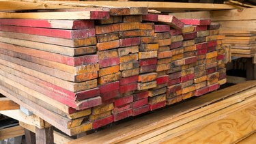 wooden stacked, Raw material for packing or construction
