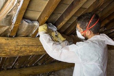 Home insulation work.