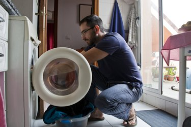Man Doing Chores
