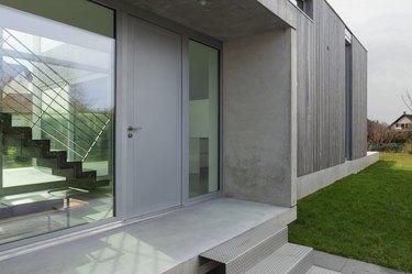 Entrance of a modern house