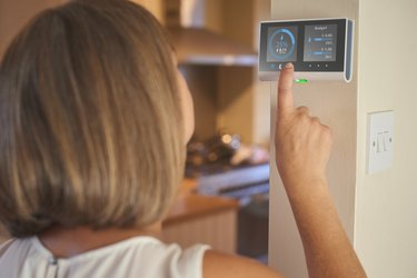 Checking home energy consumption