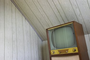 Paneled room television
