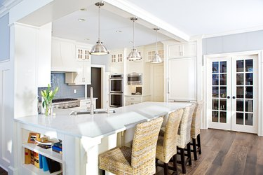 Modern Kitchen design with open concept and bar counter