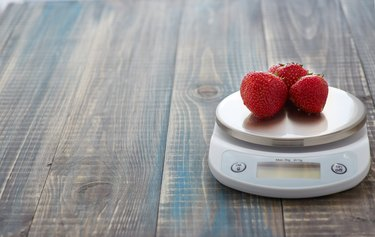 Strawberry on the scales