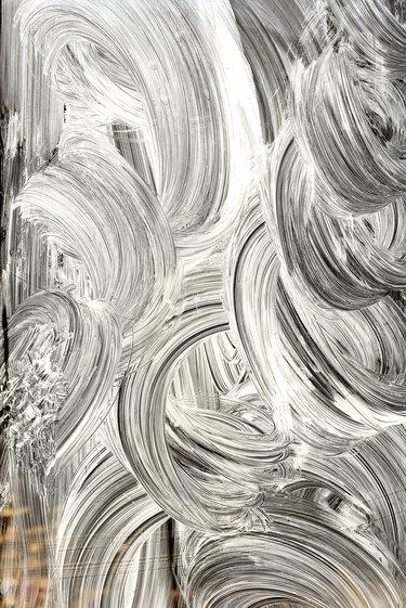 Whitewash paint on Glass