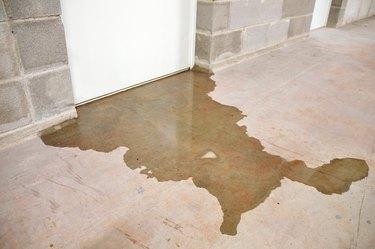 Flooded basement floor