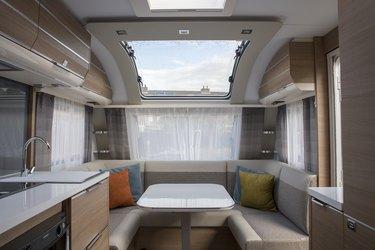 indoor of new expensive caravan